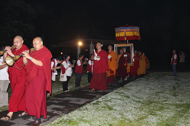 Procession on the first day