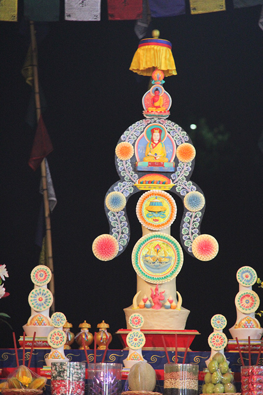 Torma at the altar (Gampopa)
