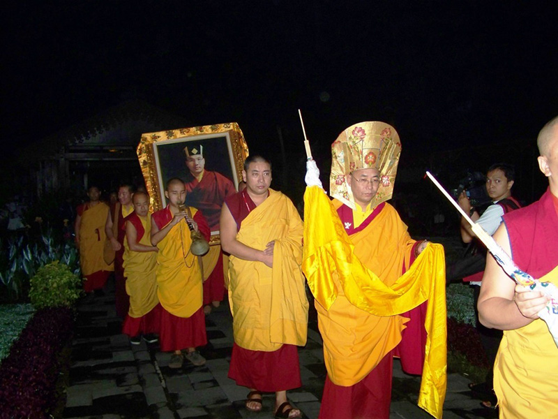 Zurmang Drukpa lead the procession on the first day