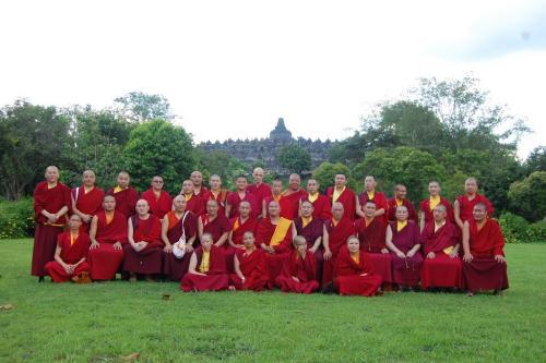 All Sangha do the 2nd Kagyu Monlam