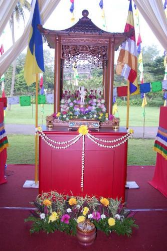 Bathing Buddha Altar