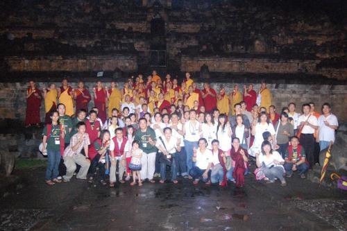 Lamp offering at the Borobudur