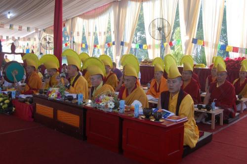 Sangha do the puja 2