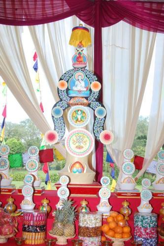 Torma at the altar (Milarepa)