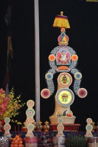 Torma at the altar (Marpa)