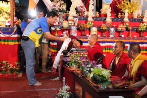 ungkapan terima kasih untuk Rinpoche