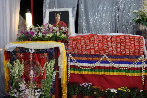 Kangyur for procession beside of Karmapa's throne