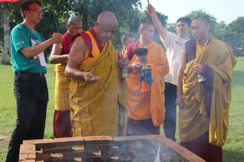 Rinpoche perfomance the Chang chog puja