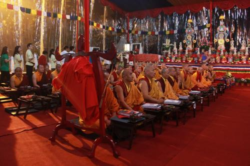 member give khata offering to the Karmapa's throne